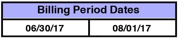 3. Billing Dates