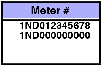 5. Meter Number